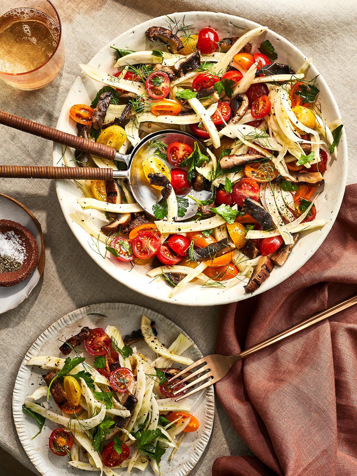 Portobello, Fennel & Tomato Salad