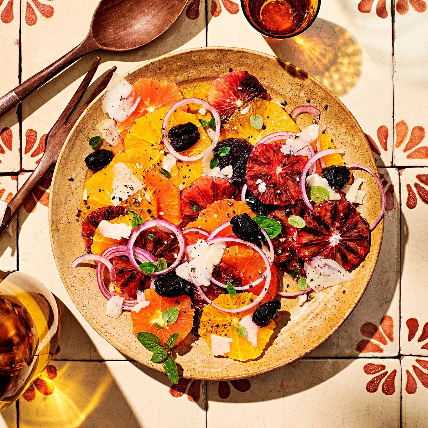 Orange Salad with Pecorino & Olives