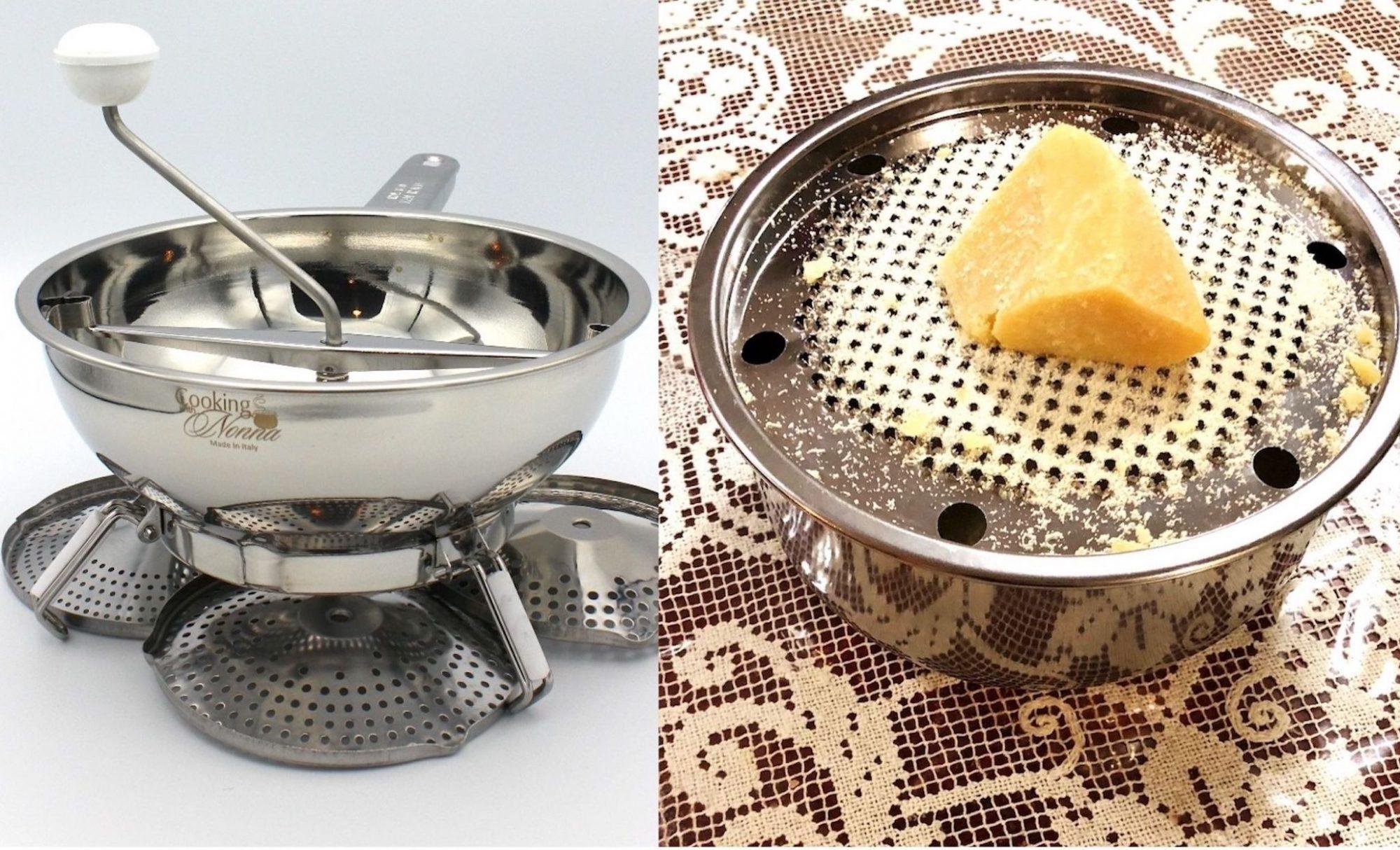 passata and cheese grater