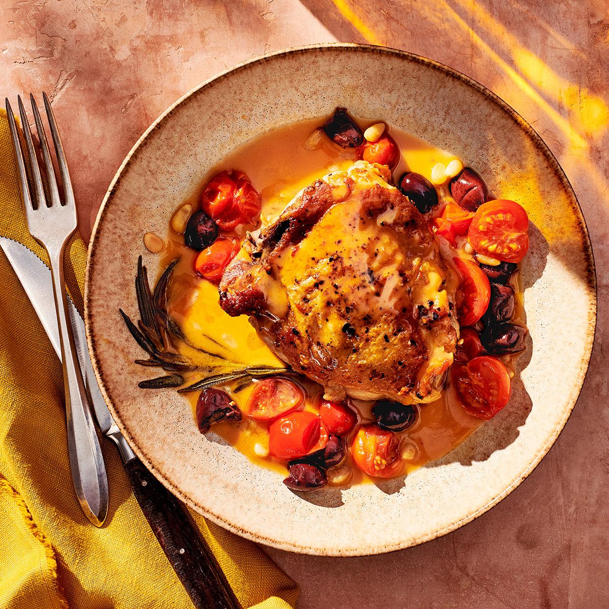 Lingurian-Braised Chicken