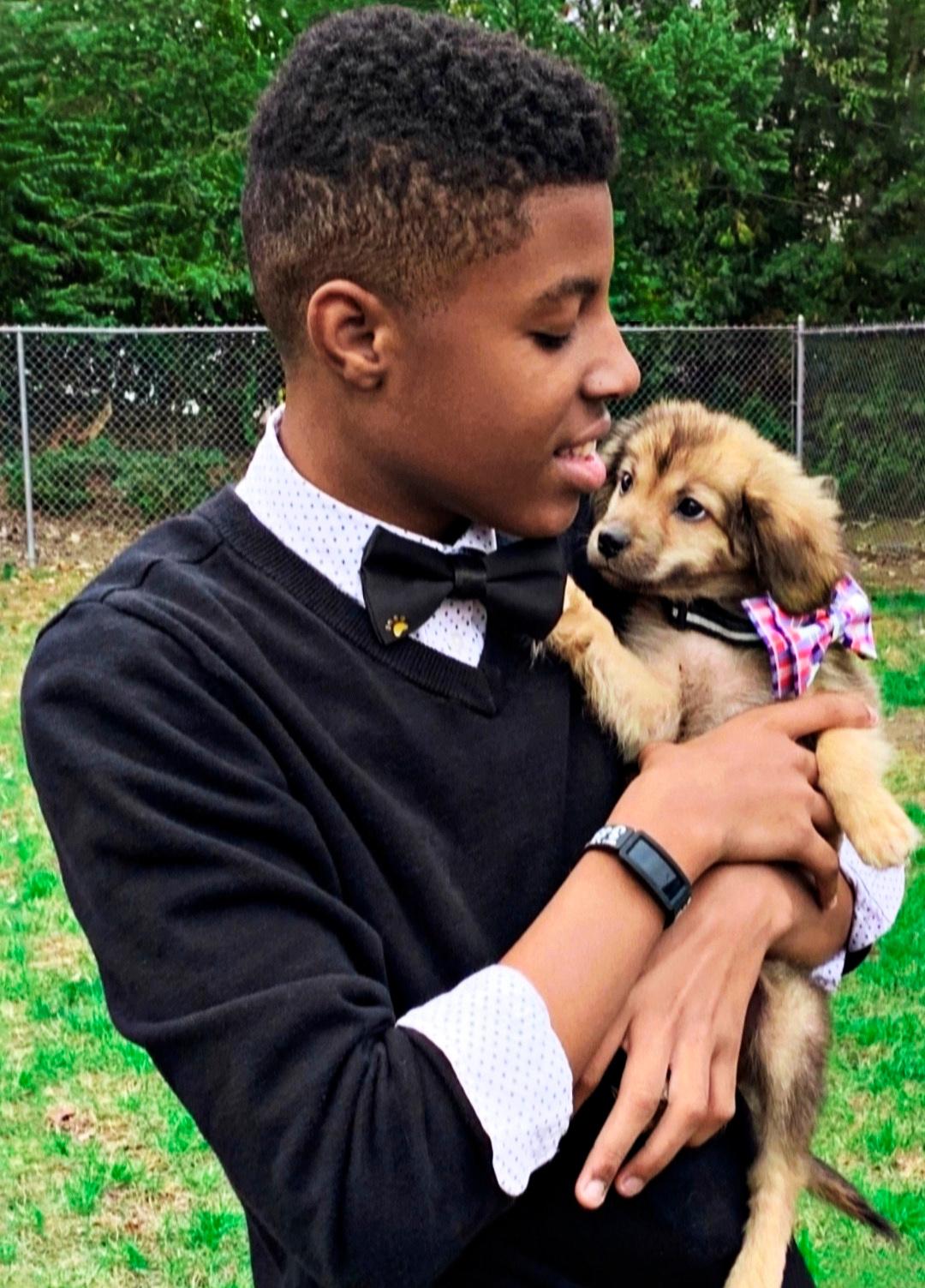 Sir Darius Brown and dog