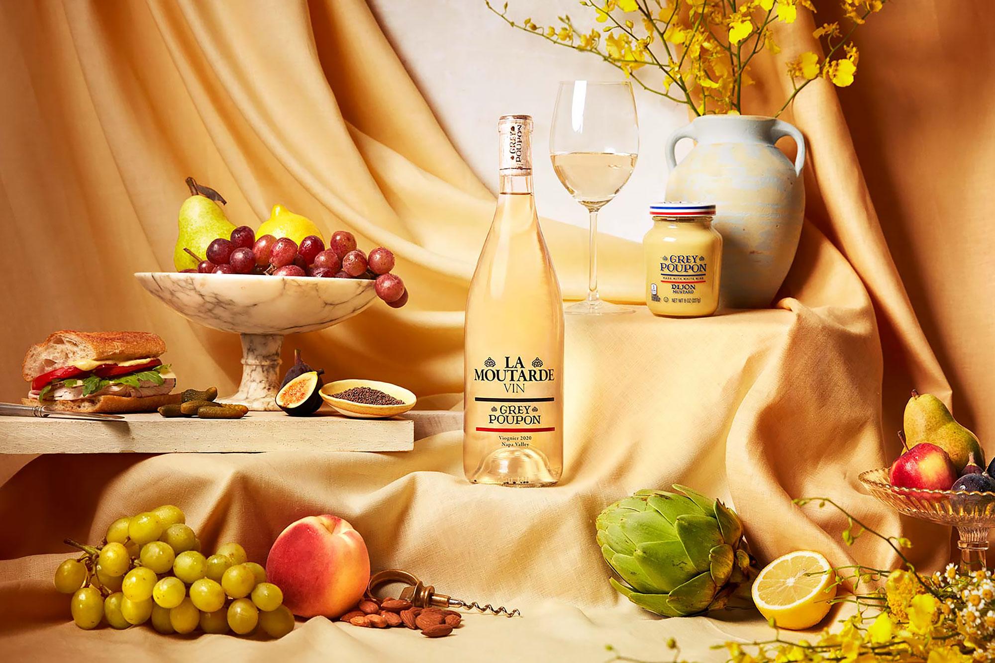 Grey Poupon Mustard Wine