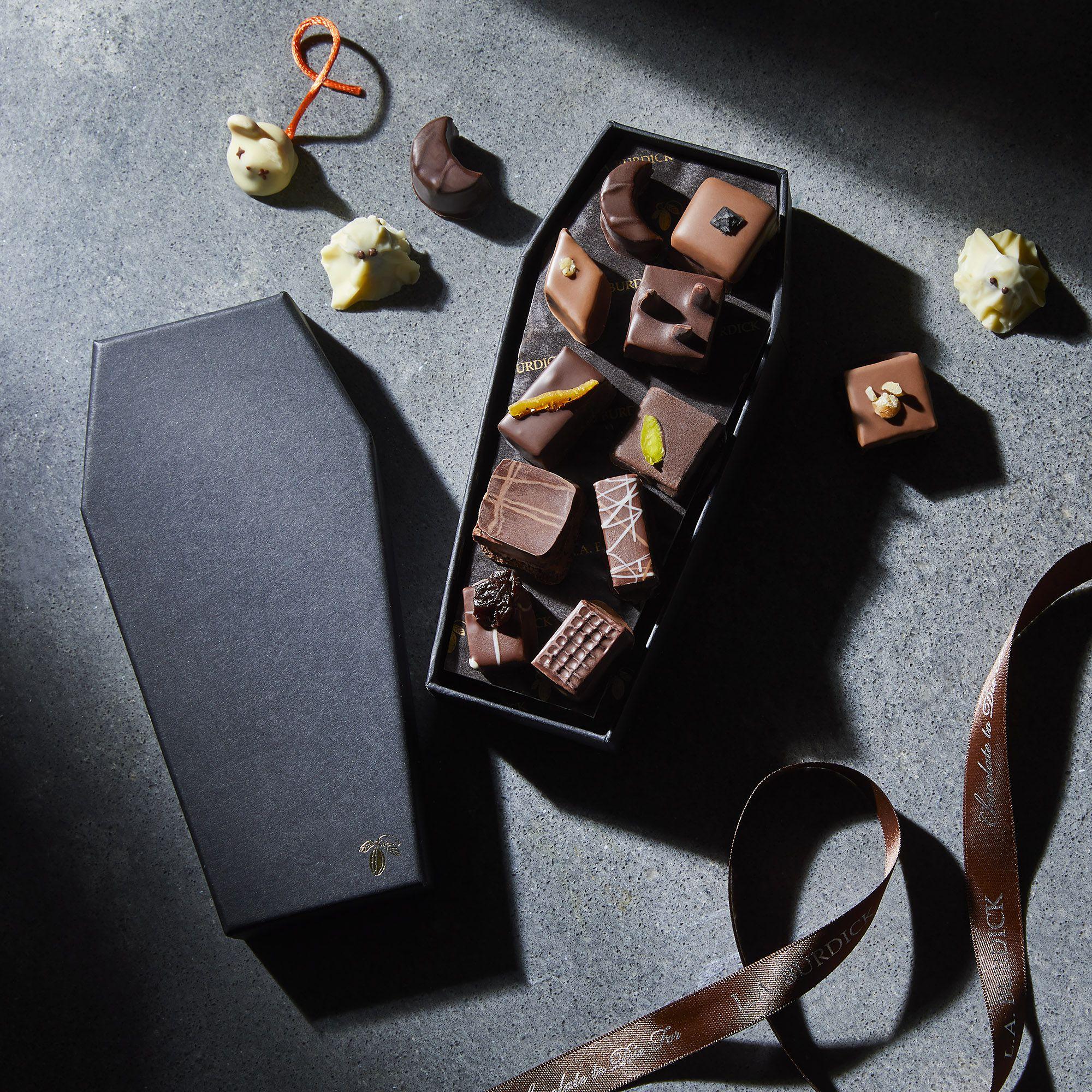 halloween chocolate coffin treat candy