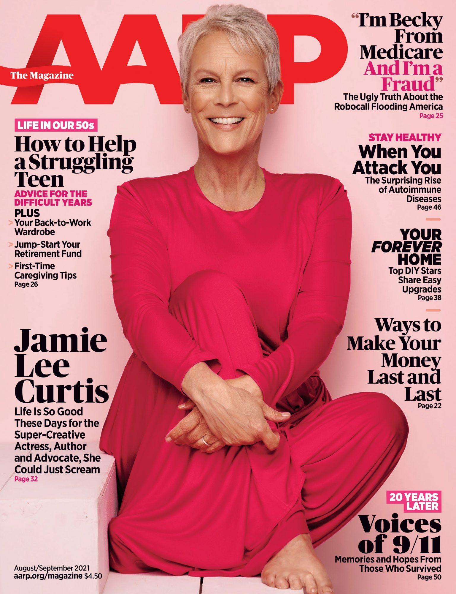 Jamie lee curtis -AARP cover