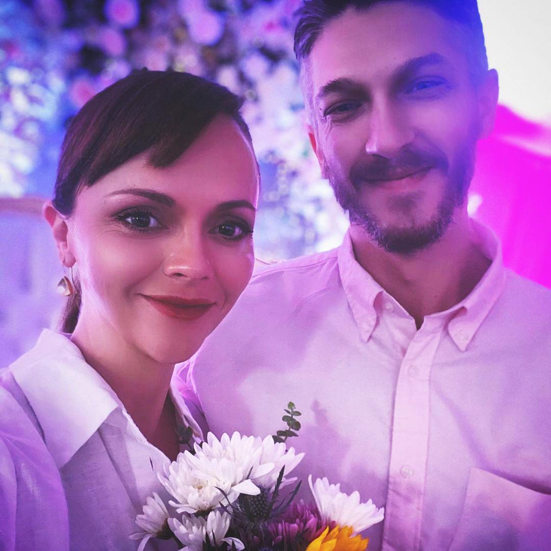 Christina Ricci and new husband Mark Hampton