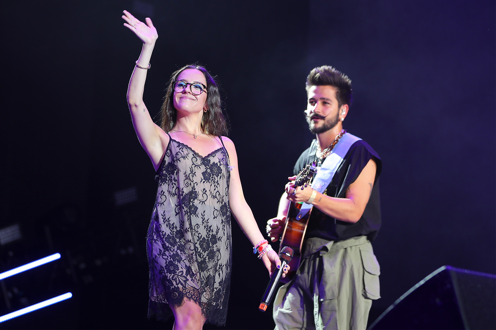 Evaluna Montaner and Colombian singer Camilo
