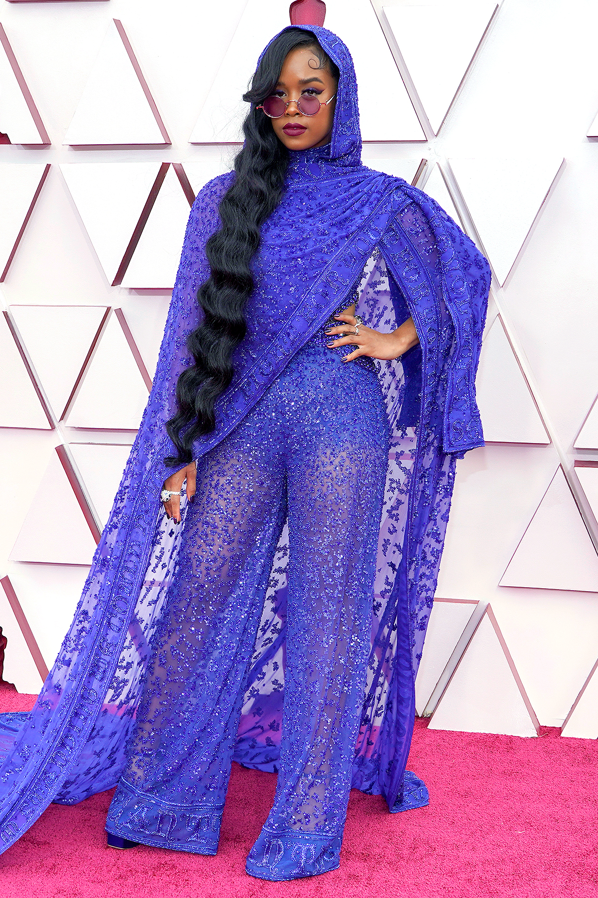 H.E.R. attends the 63rd Annual GRAMMY Awards at Los Angeles Convention Center on March 14, 2021