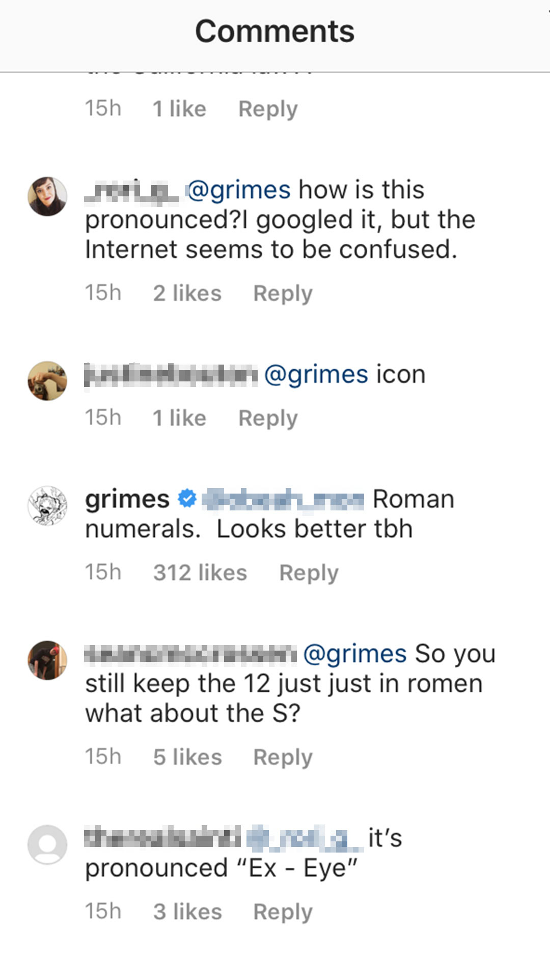 Grimes changes baby name