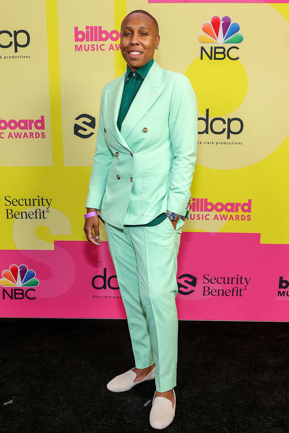 Lena Waithe poses backstage for the 2021 Billboard Music Awards