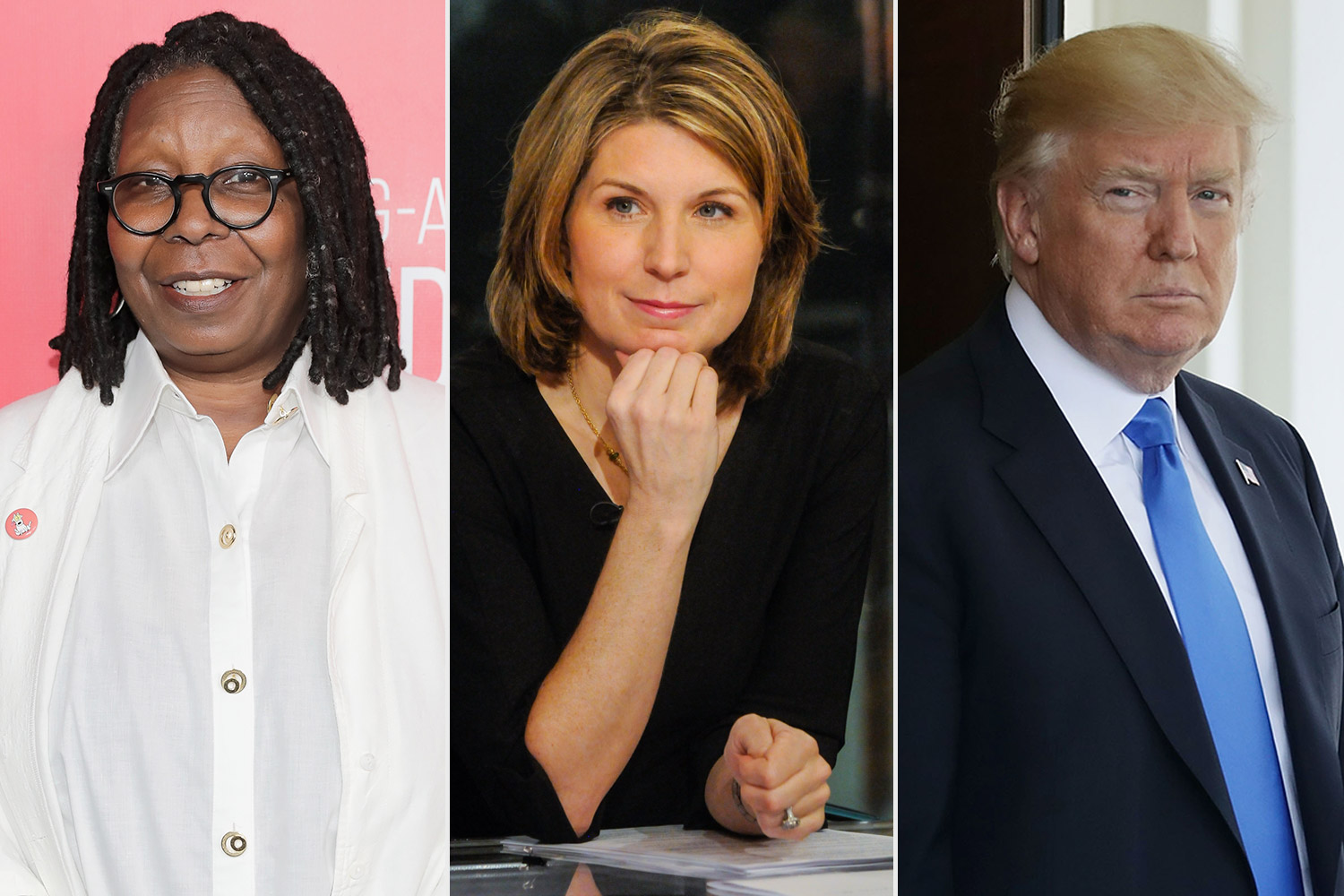 Nicolle Wallace, Donald Trump and Whoopi Goldberg