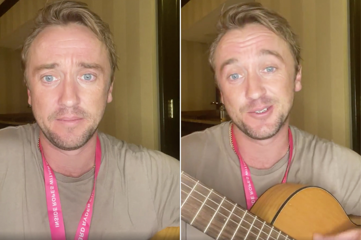 Tom Felton Sings That He'll 'Be Doing Fine' as He Gives Health Update with His Guitar: 'On the Mend'