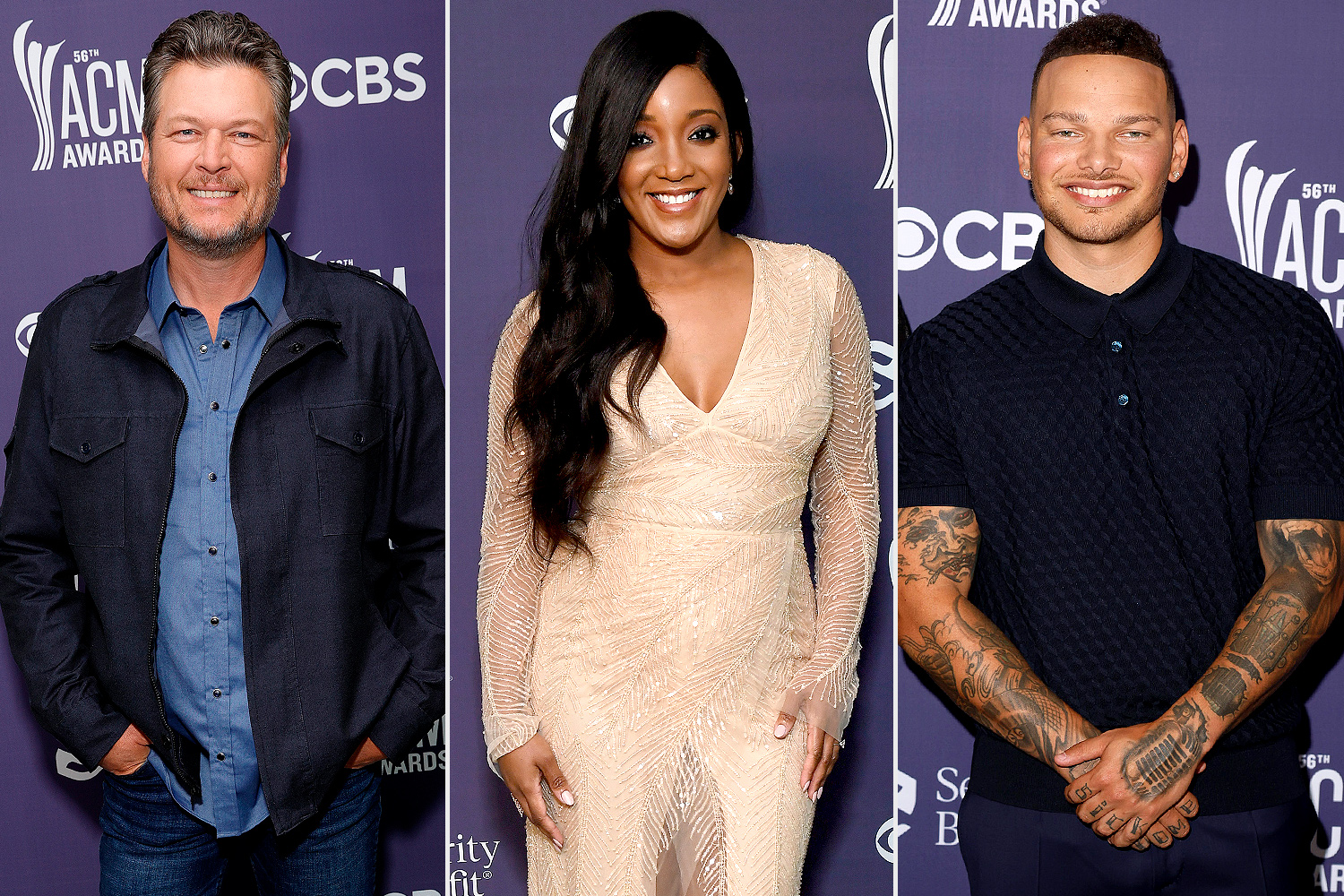 mickey guyton, blake shelton, kane brown