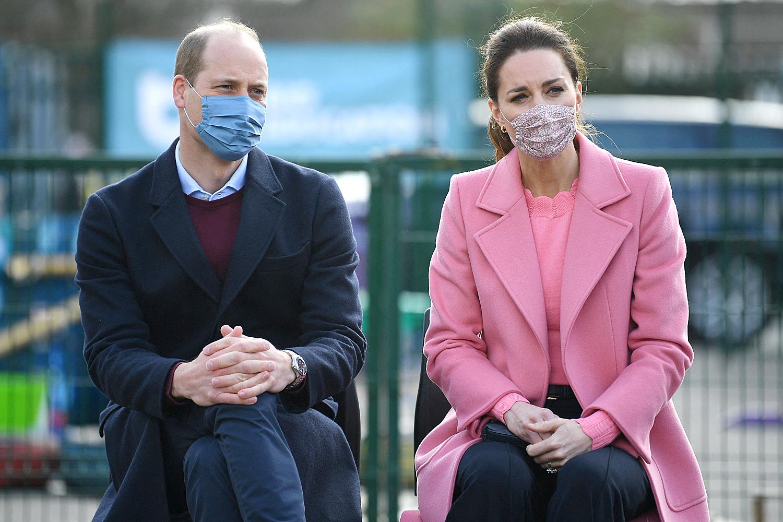 Prince William, Duke of Cambridge and Britain's Catherine, Duchess of Cambridge