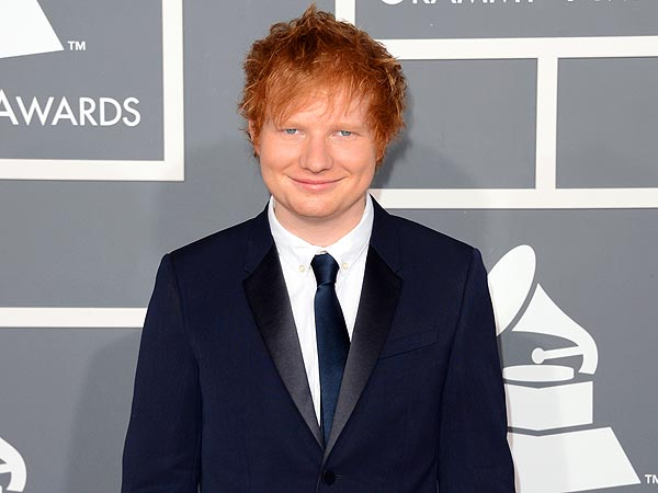 Ed Sheeran arrives at the 55th Annual GRAMMY Awards at Staples Center on February 10, 2013 in Los Angeles, California.