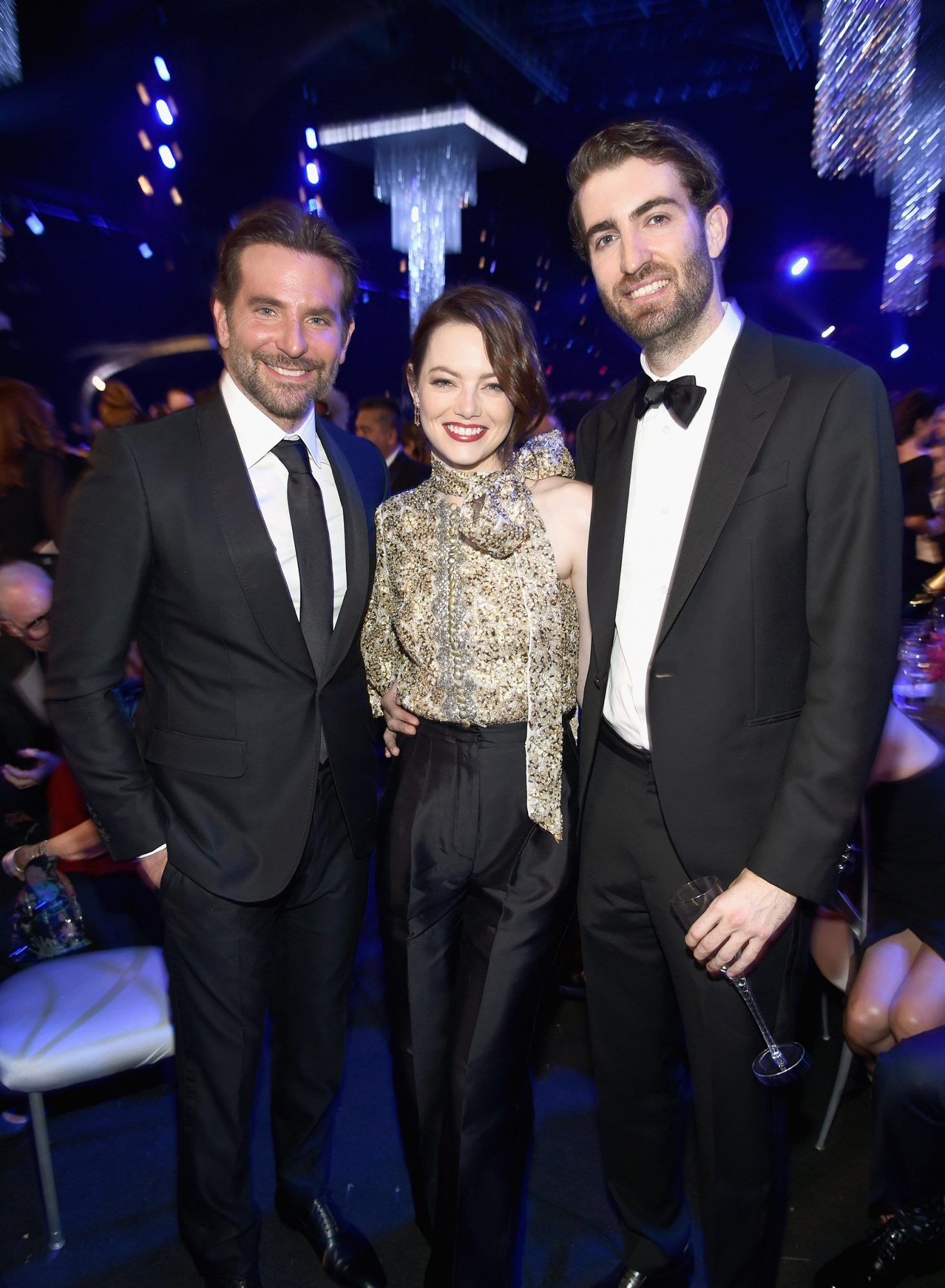 Bradley Cooper, Emma Stone, and Dave McCary