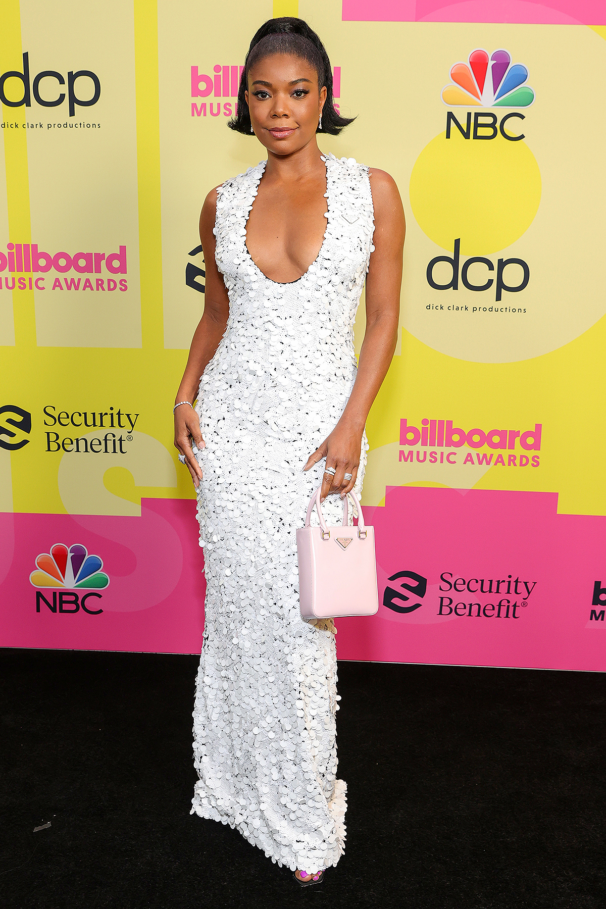Gabrielle Union poses backstage for the 2021 Billboard Music Awards, broadcast on May 23, 2021