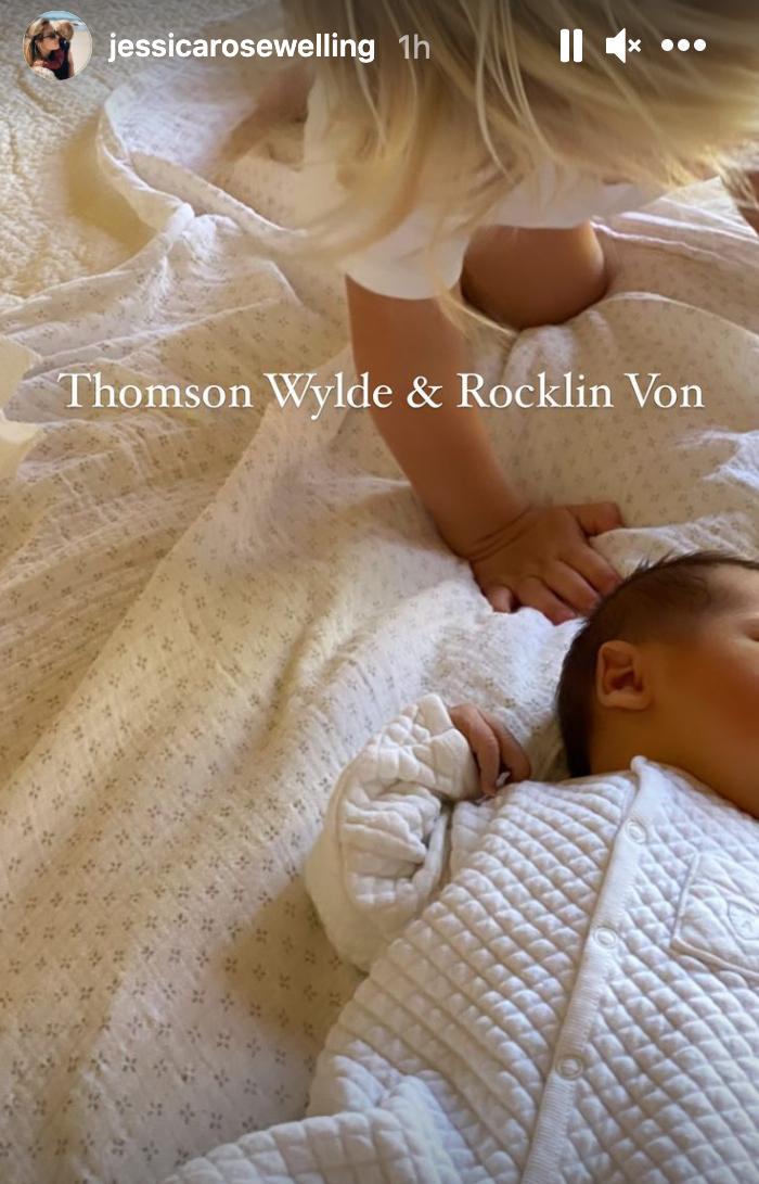 Jessica Welling newborn