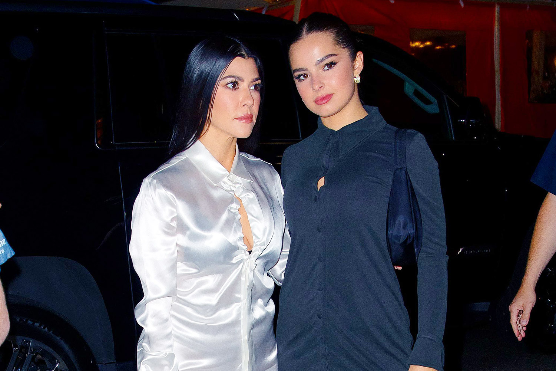 Kourtney Kardashian (L) and Addison Rae