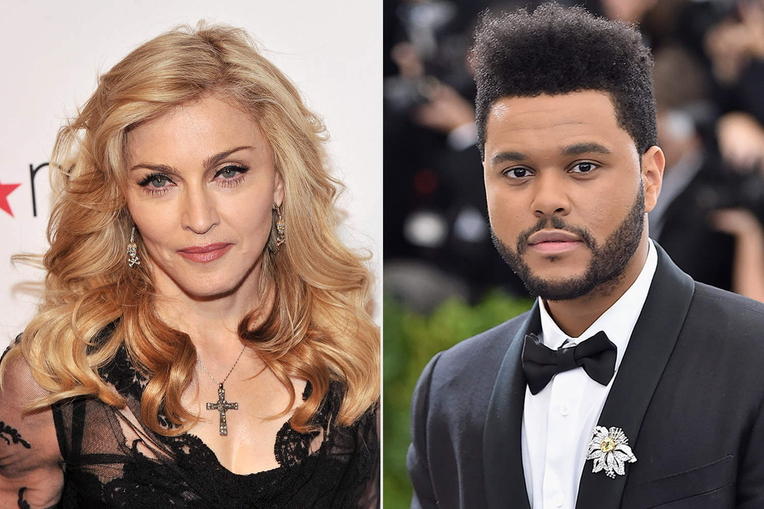 Madonna and the weeknd