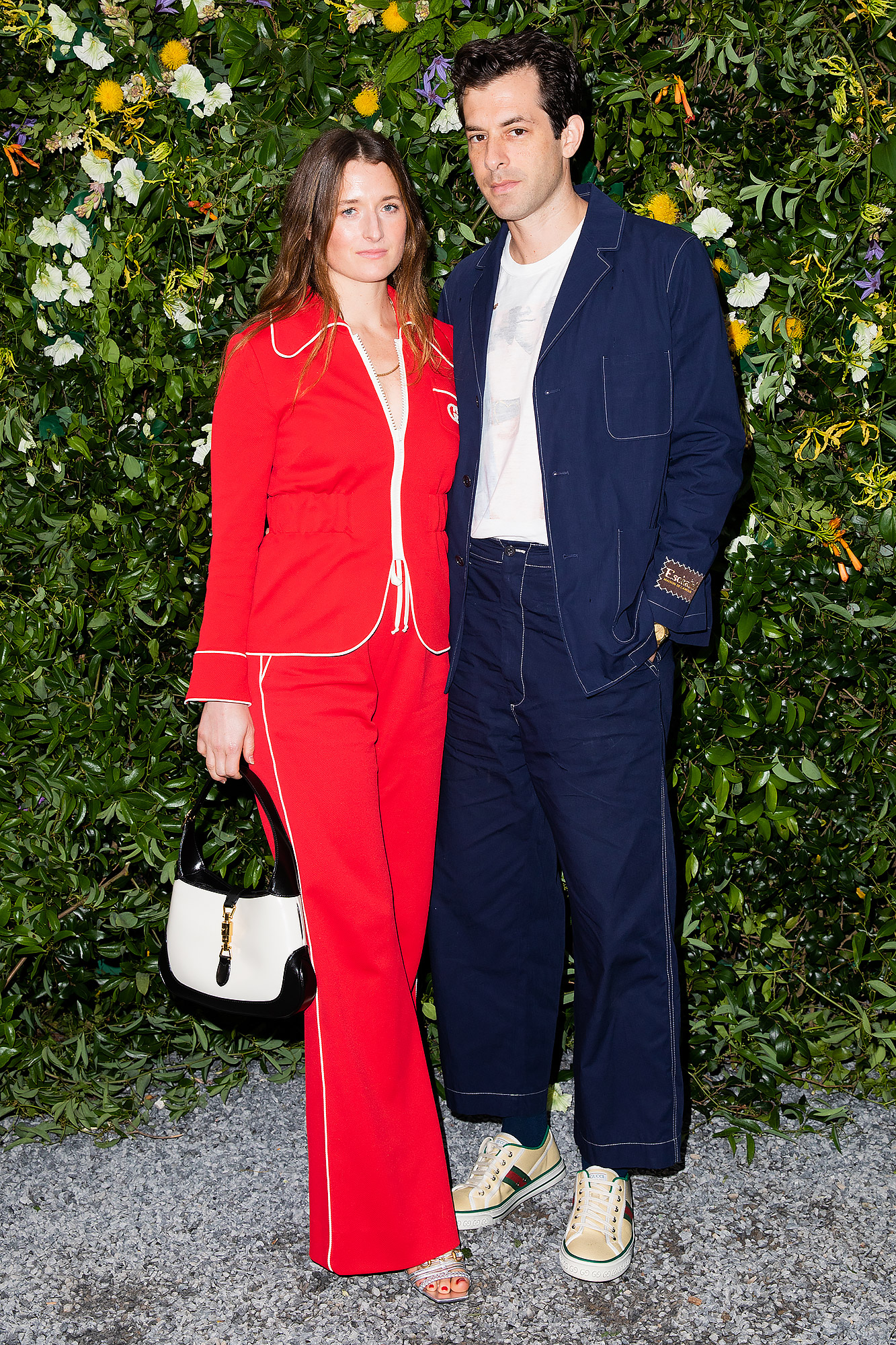 Grace Gummer and Mark Ronson attend GUCCI AND THE SALTZMAN FAMILY HOST A SUMMER CELEBRATION on July 10th in East Hampton