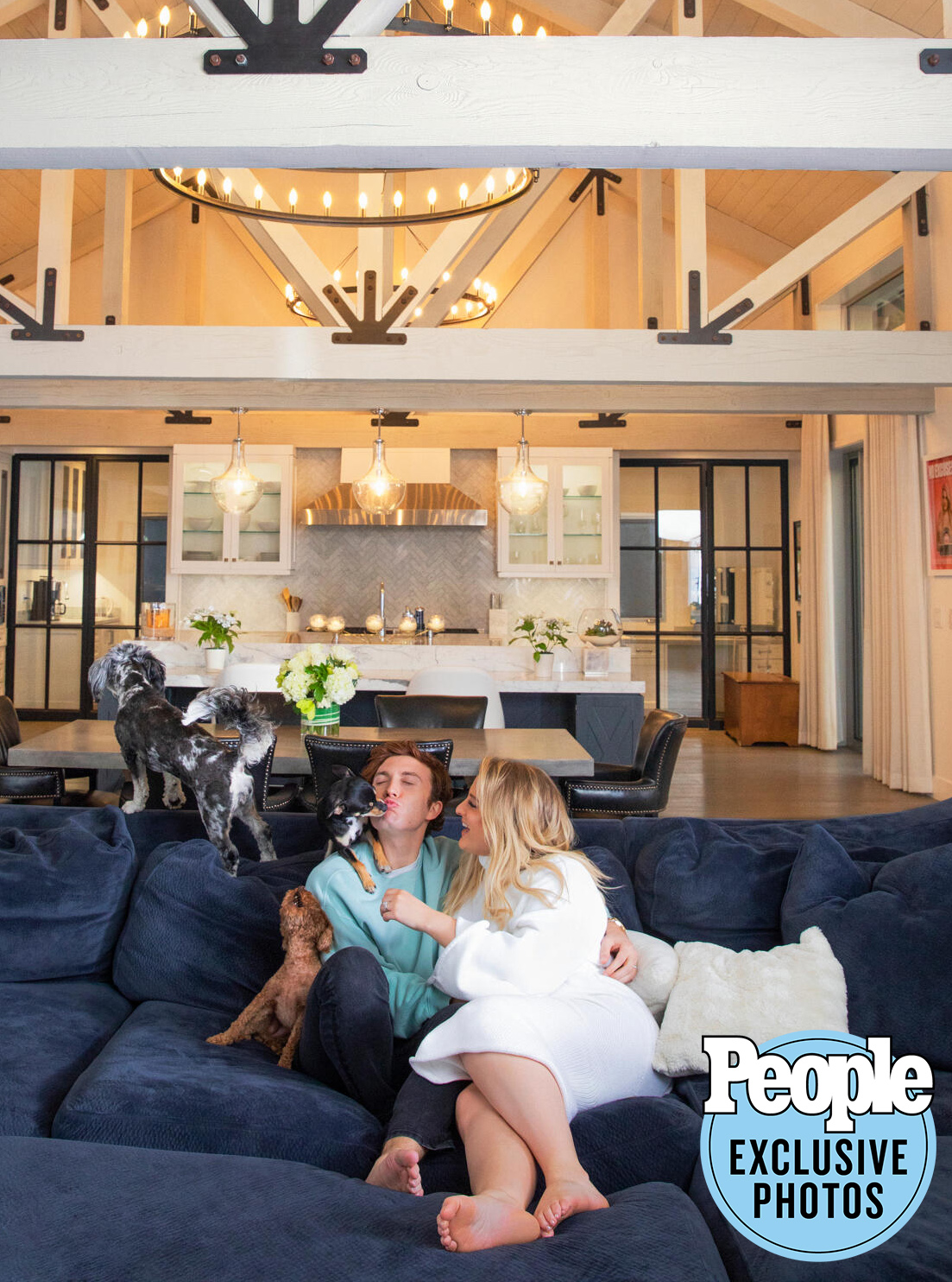 Meghan Trainor for People at her home in Toluca Lake with husband Daryl; Gladees photo editor with Ben onsite