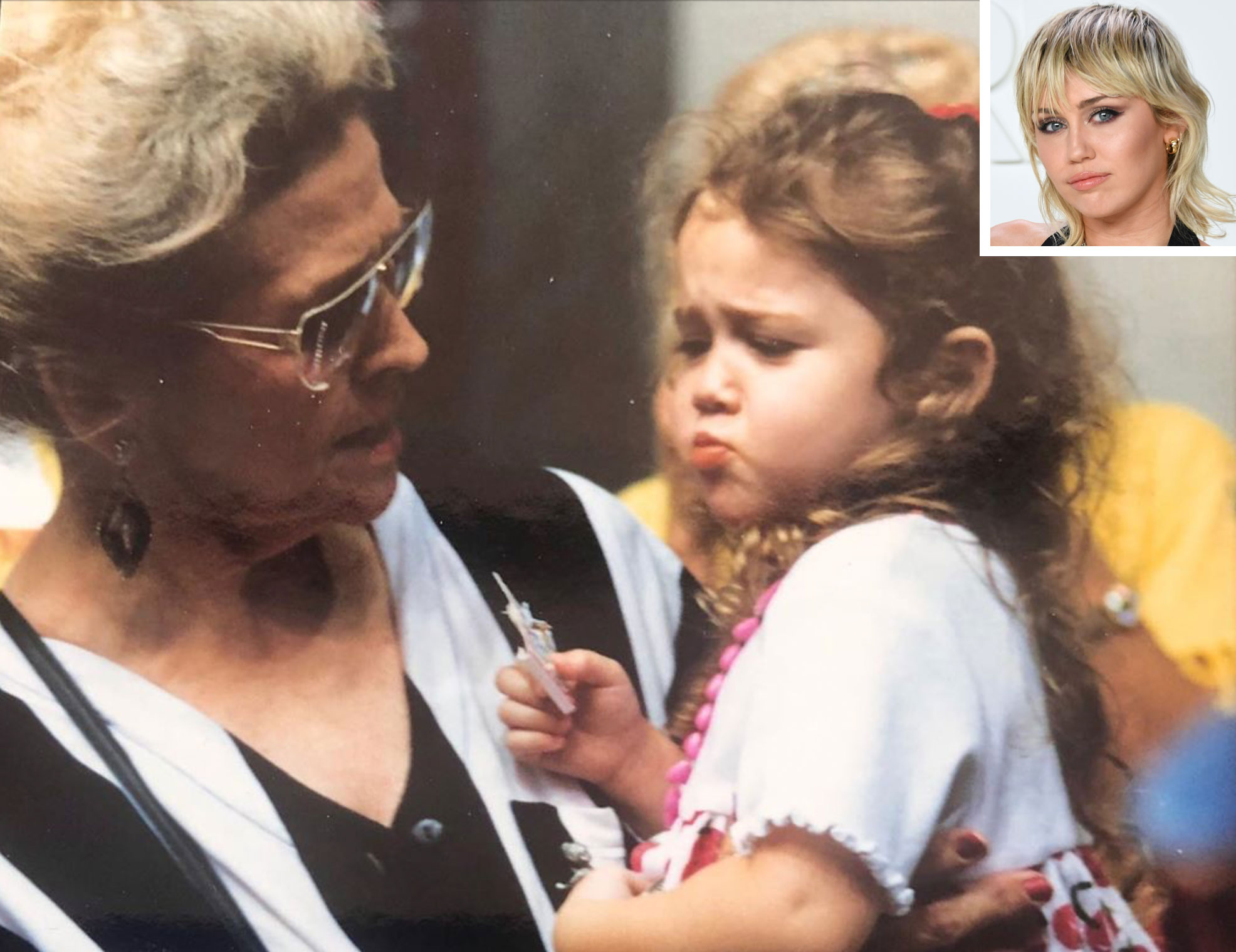 Miley Cyrus and her grandmother