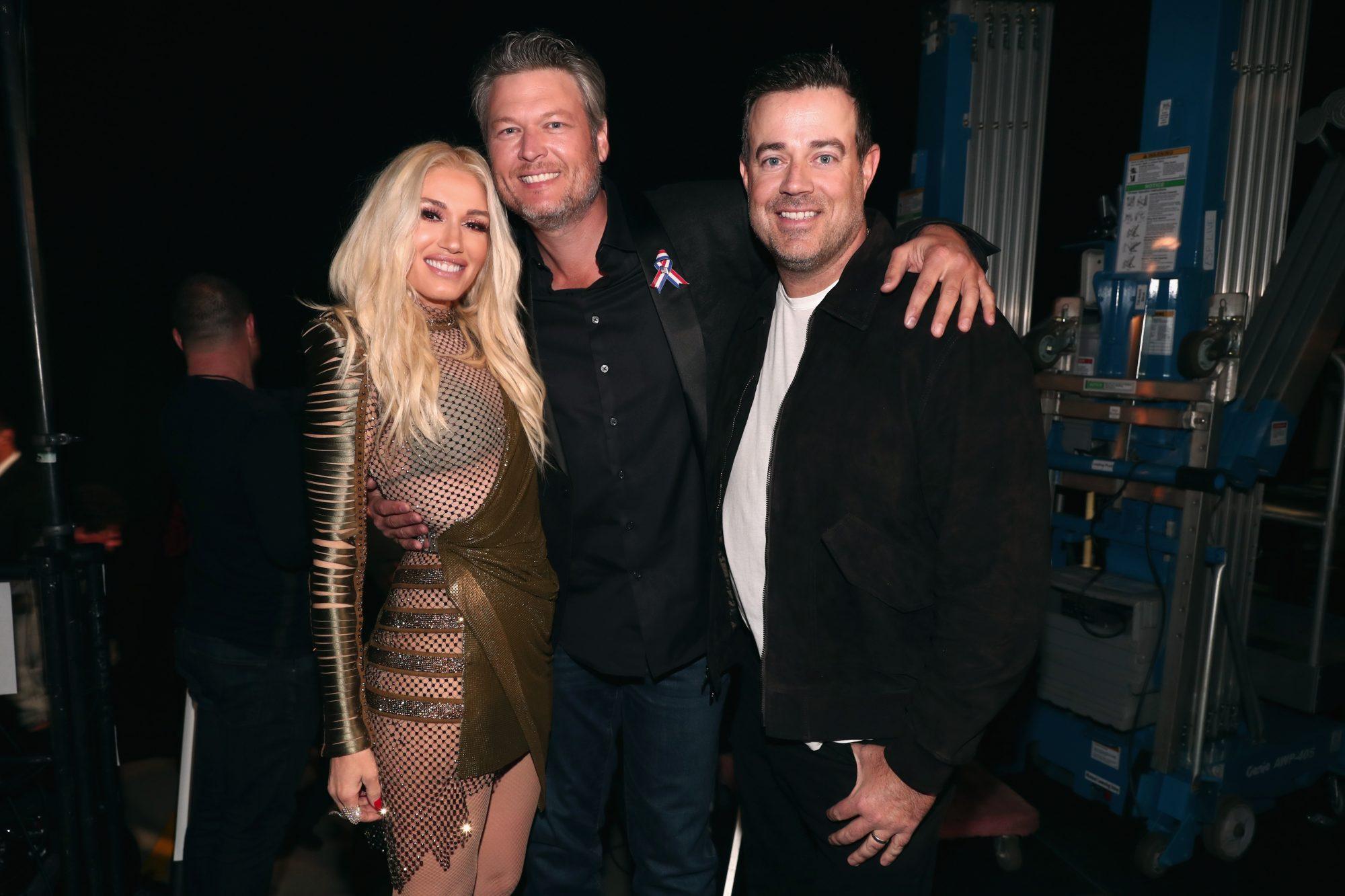 Gwen Stefani; Blake Shelton; Carson Daly