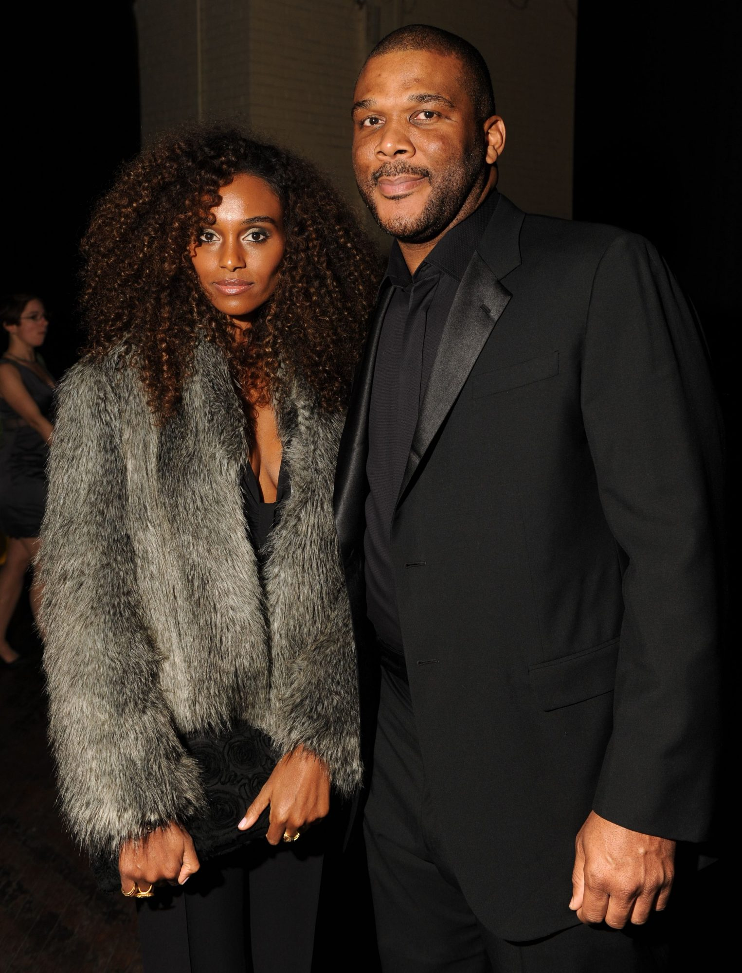 Gelila Bekele (L) and Tyler Perry