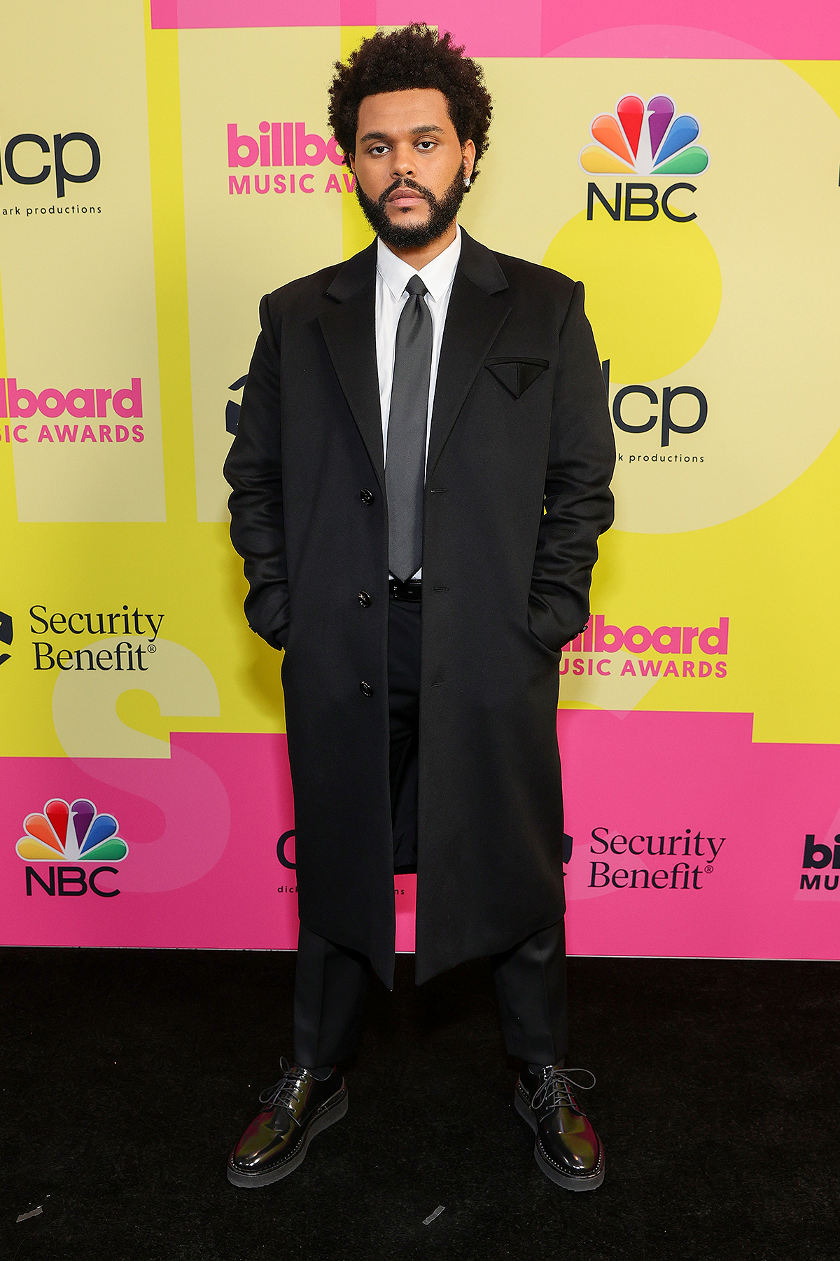 The Weeknd poses backstage for the 2021 Billboard Music Awards, broadcast on May 23, 2021 at Microsoft Theater in Los Angeles, California.
