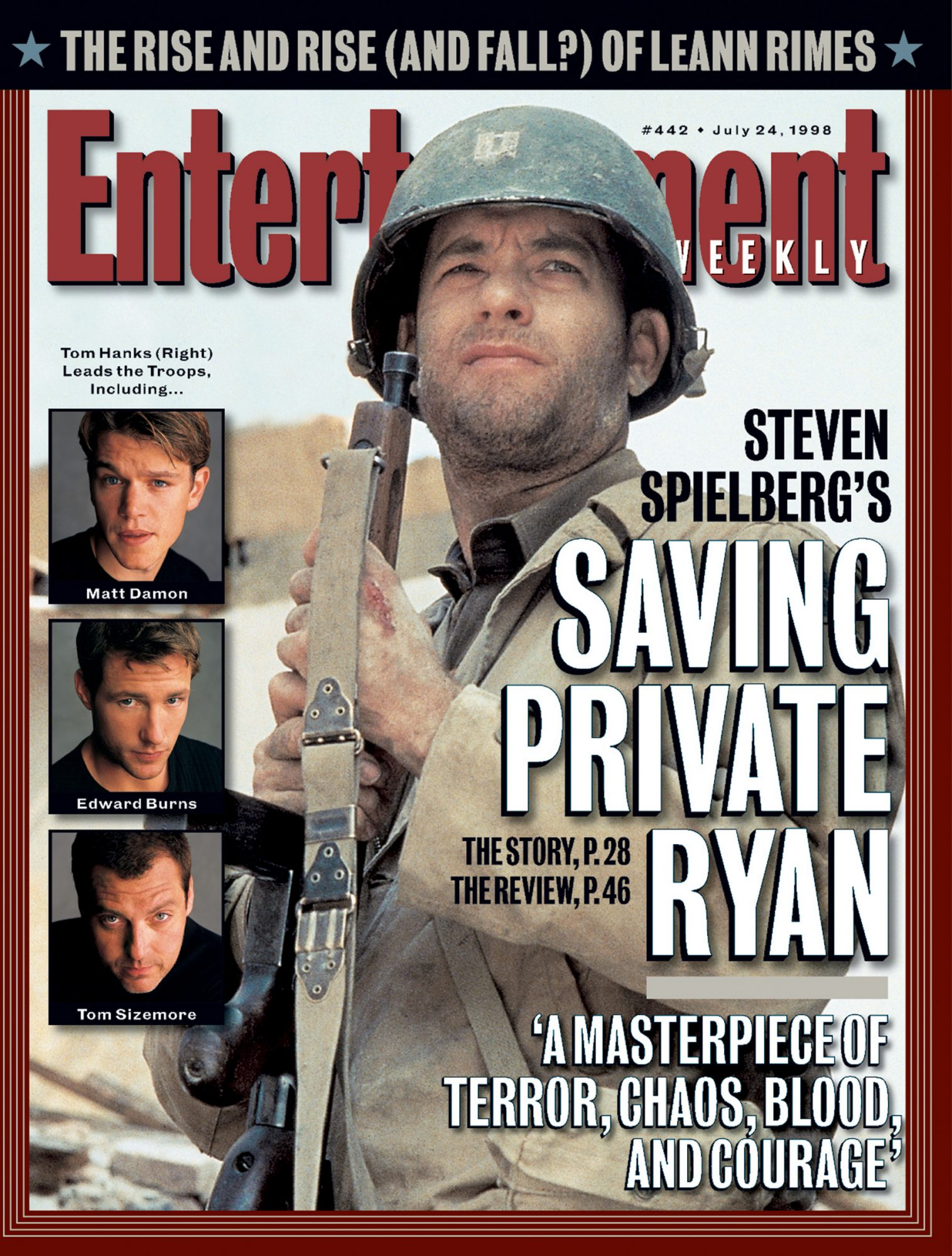 Entertainment WeeklySaving Private RyanJuly 24, 1998# 442