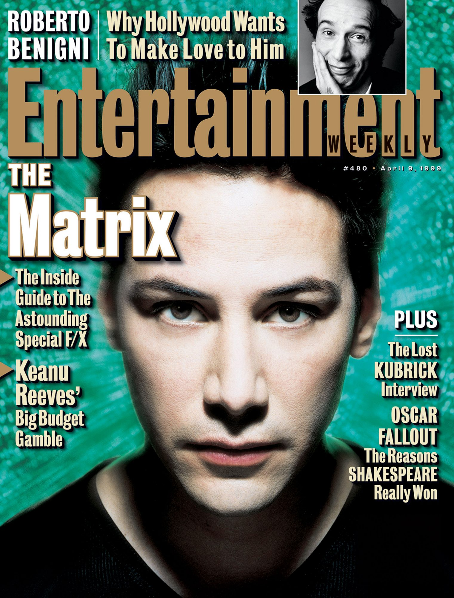 Entertainment WeeklyThe Matrix -  Keanu ReevesApril 9, 1999# 480