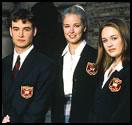 NOT 'POPULAR' (from left) Perhaps Robin Dunne, Keri Lynn Pratt, and Sarah Thompson should ''Prep'' for new shows