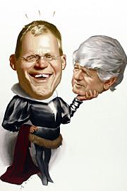 Ted Koppel, David Letterman