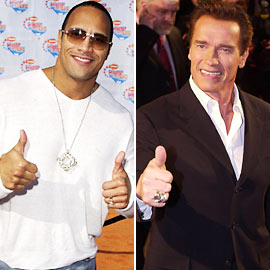 Arnold Schwarzenegger, Dwayne ''The Rock'' Johnson