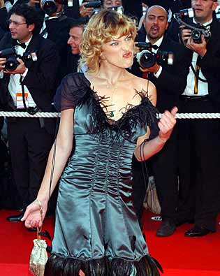 Milla Jovovich, Cannes International Film Festival 2002