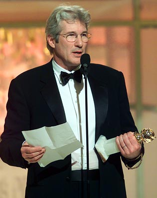 Richard Gere, Golden Globe Awards 2003