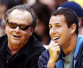 Adam Sandler, Jack Nicholson, ...