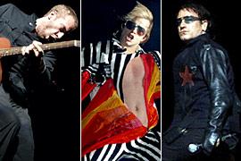 Bono, Chris Martin, ...