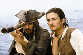 Johnny Depp, Orlando Bloom, ...
