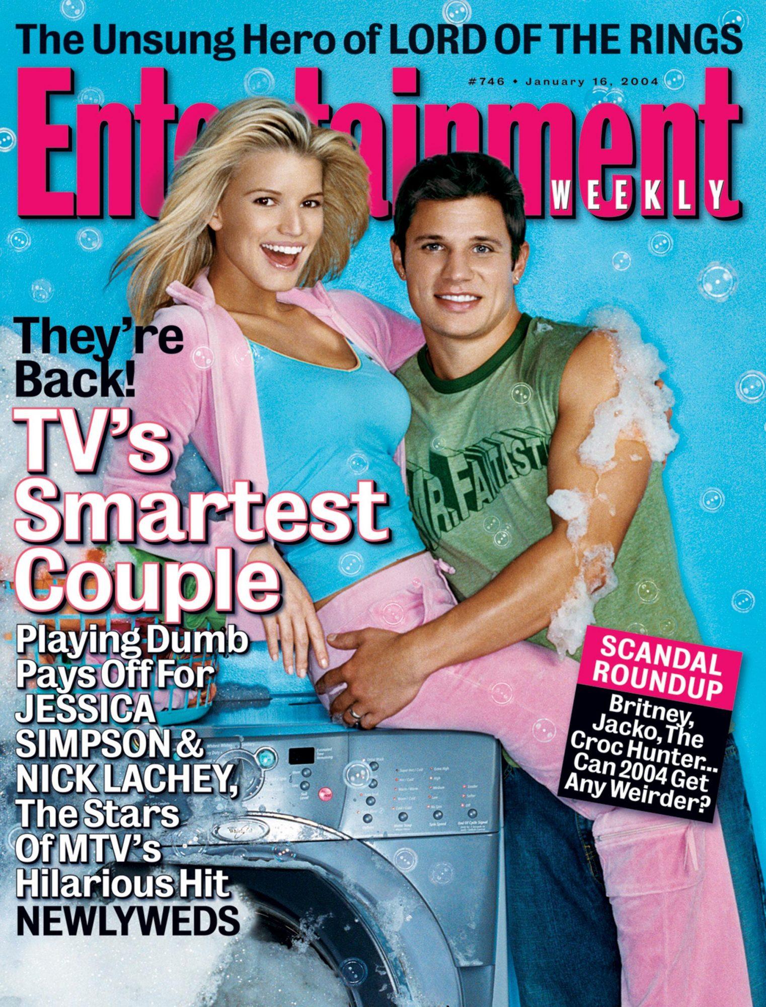 Entertainment WeeklyJessica Simpson & Nick LacheyJanuary 16, 2004# 746