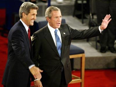 John Kerry, George W. Bush