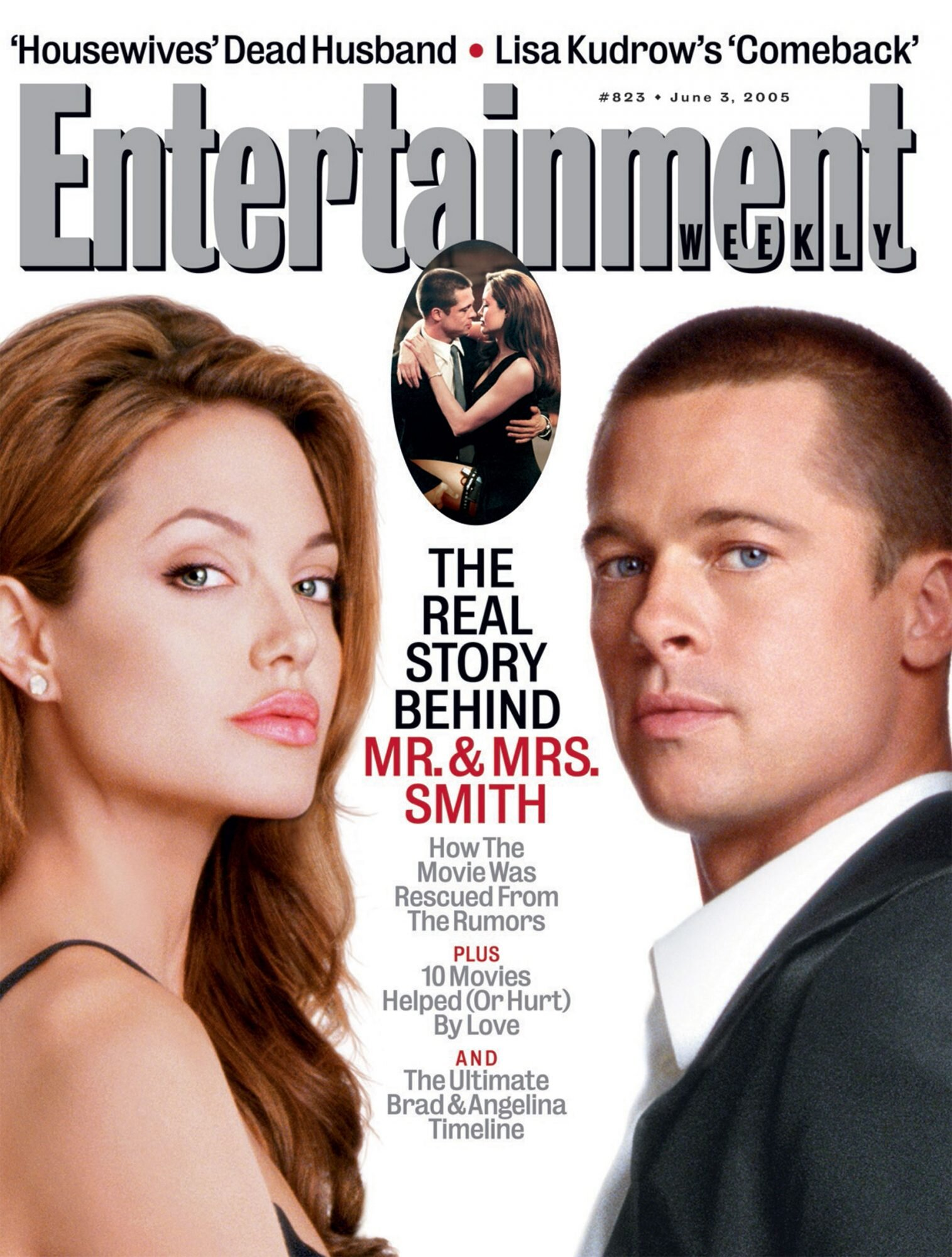 From The Ew Archives Brad Pitt Angelina Jolie And The Tabloid Drama Behind Mr Amp Mrs Smith Ew Com