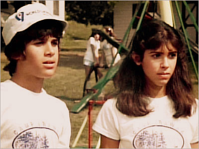 Sleepaway Camp, Felissa Rose, ... | WHAT IT'S ABOUT Shy girl Angela (Felissa Rose) and her cousin Ricky (Jonathan Tiersten, pictured with Rose) go to Camp Arawak, where they face the…