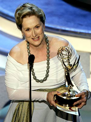 Meryl Streep | Think Meryl Streep's won enough awards for one lifetime? So does she, at times. Accepting her trophy in 2004 for best actress in a miniseries…