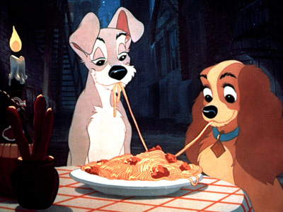 Lady and the Tramp | LADY AND THE TRAMP (animated; American Cocker Spaniel and a mutt) The Lady and the Tramp Dogs! On a date! Eating spaghetti! There's never been…