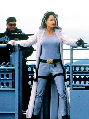 Lara Croft: Tomb Raider, Angelina Jolie | Lara Croft: Tomb Raider (2001) Talking to EW, Jolie described acrobatic archaeologist Croft as a privileged gal ''who does amazing things but is completely out…