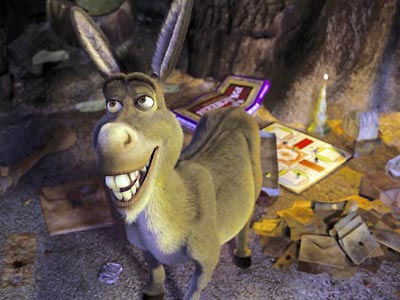 Shrek 2 | Sidekick to: Shrek Shrek franchise (2001-present) Donkey has more than his share of unattractive qualities. He talks too much, is (unsurprisingly) stubborn, and has the…