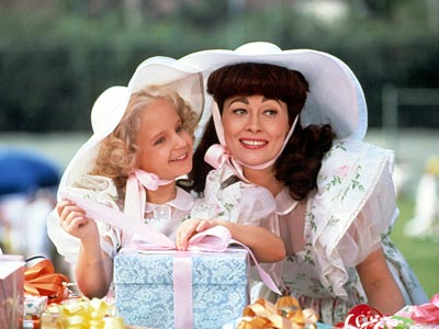 Mara Hobel, Faye Dunaway, ... | YOUNG CHRISTINA CRAWFORD (Mara Hobel) Mommie Dearest (1981) Admit it: There's nothing more satisfying than capping off a pool-race victory by taunting, ''I'm bigger! I'm…