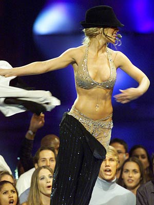 Britney Spears | HAT TRICK At the 2000 MTV Video Music Awards, Spears' medley performance of ''(I Can't Get No) Satisfaction'' and ''Oops!...I Did It Again'' prompted cohost…
