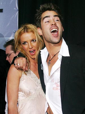 Colin Farrell, Britney Spears | REBOUND HOUND After splitting with former beau Justin Timberlake, Britney was spotted getting cozy with other celebs, including Colin Farrell (pictured, in 2003) and Limp…
